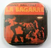 Johnny Hallyday - 'La Bagarre' Square Button Badge